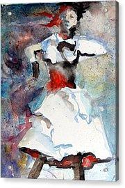 Dancer Acrylic Print by Mindy Newman
