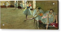 Dancers In The Classroom Acrylic Print by Edgar Degas