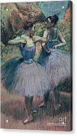 Dancers In Violet  Acrylic Print by Edgar Degas