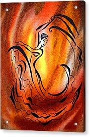 Dancing Fire I Acrylic Print by Irina Sztukowski