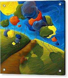 Dancing Shadows Acrylic Print by Richard Hoedl