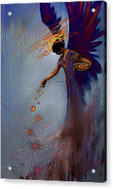 Dancing The Lifes Web Star Gifter Does Acrylic Print by Stephen Lucas