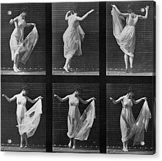 Dancing Woman Acrylic Print by Eadweard Muybridge