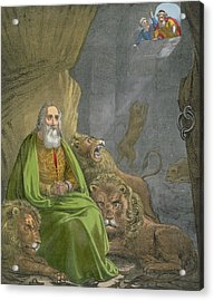 Daniel In The Lions' Den Acrylic Print by Siegfried Detler Bendixen