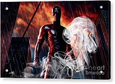 Daredevil Collection Acrylic Print by Marvin Blaine