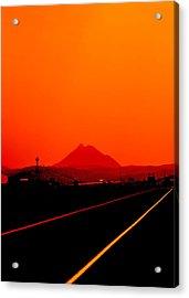 Dark Hill Road 2015 Acrylic Print by James Warren