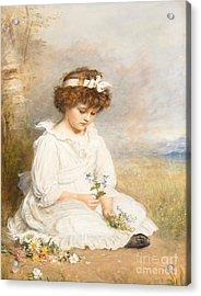 Darling Acrylic Print by Sir John Everett Millais