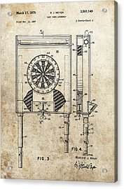 Dart Board Game Patent Acrylic Print by Dan Sproul