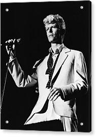 David Bowie 1983 Us Festival Acrylic Print by Chris Walter