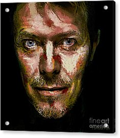 David Bowie Acrylic Print by Dragica Micki Fortuna
