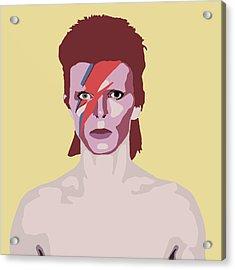 David Bowie Acrylic Print by Nicole Wilson
