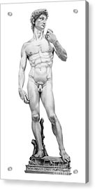 David-michelangelo Acrylic Print by Murphy Elliott