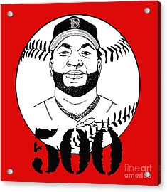 David Ortiz Big Papi 500 Home Runs Acrylic Print by Dave Olsen