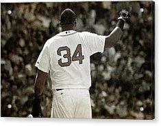 David Ortiz - Big Papi - Boston Red Sox Acrylic Print by Joann Vitali