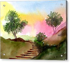 Dawn Acrylic Print by Anil Nene