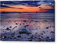 Dawn At Orient Point Acrylic Print by Rick Berk