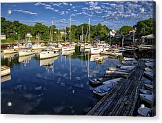 Dawn At Perkins Cove - Maine Acrylic Print by Steven Ralser