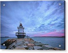 Dawn At Spring Point Ledge Lighthouse Acrylic Print by Rick Berk