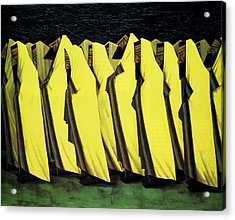 Day Of Atonement Acrylic Print by Jacob Kramer