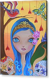 Day Of The Dead Princess Acrylic Print by Jaz Higgins