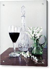 Days Of Wine And Lilies Acrylic Print by Luther Fine Art