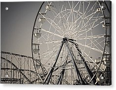 Daytona Beach Ferris Wheel Acrylic Print by Joan Carroll