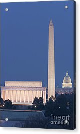 Dc Landmarks At Twilight Acrylic Print by Clarence Holmes