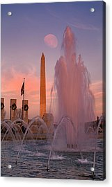 Dc Sunset Acrylic Print by Betsy Knapp