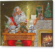 Dear Santa Acrylic Print by Richard De Wolfe