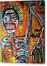 Death Of Basquiat Acrylic Print by Robert Wolverton Jr