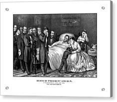 Death Of President Lincoln Acrylic Print by War Is Hell Store