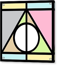 Deathly Hallows Acrylic Print by Pati Photography