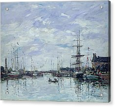 Deauville The Dock Acrylic Print by Eugene Louis Boudin