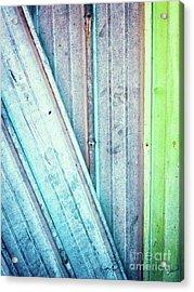 Decayed Metal Door Acrylic Print by Silvia Ganora