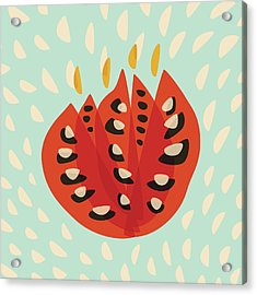 Decorative Beautiful Abstract Tulip Acrylic Print by Boriana Giormova