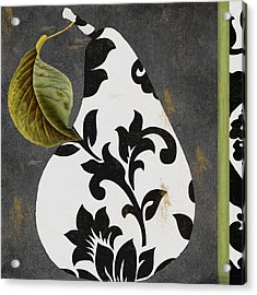 Decorative Damask Pear I Acrylic Print by Mindy Sommers