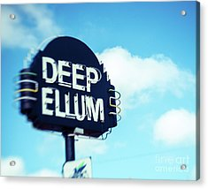 Deep Ellum Big D Acrylic Print by Sonja Quintero