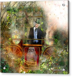 Deep In The Woods - Is The Fairyloon Man Acrylic Print by Carrie Jackson