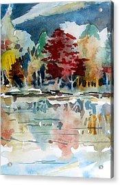 Deep Into Autumn Acrylic Print by Mindy Newman