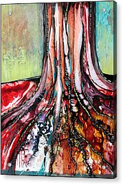 Deeply Rooted I Acrylic Print by Shadia Zayed