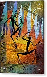 Deer Blessing Acrylic Print by Angela Treat Lyon