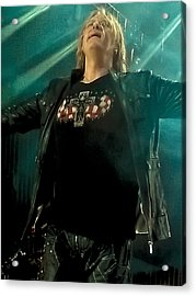 Def Lappard's Joe Elliott Acrylic Print by David Patterson