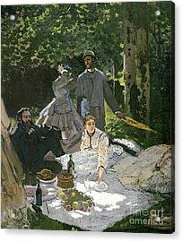 Dejeuner Sur Lherbe Acrylic Print by Claude Monet