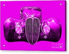 Delahaye . Magenta Acrylic Print by Wingsdomain Art and Photography