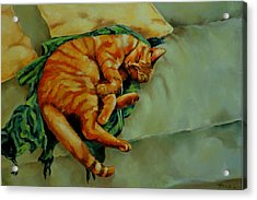 Delicious Sleep Acrylic Print by Jolante Hesse