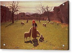 Deluded Hopes Acrylic Print by Giuseppe Pellizza da Volpedo