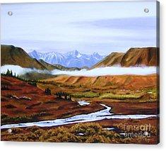 Denali Autumn Acrylic Print by Mary Rogers
