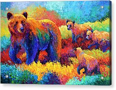 Denali Family Acrylic Print by Marion Rose