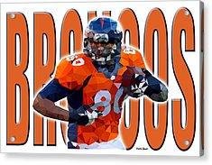 Denver Broncos Acrylic Print by Stephen Younts