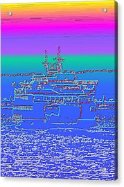 Departing Ferry Acrylic Print by Tim Allen